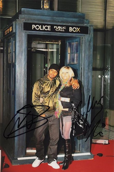 Noel Clarke & Camille Coduri, Doctor Who, signed 9x6 inch photo.